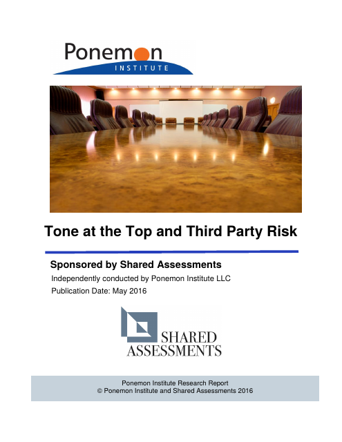 image from Tone at the Top and Third Party Risk