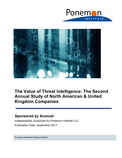 image from The Value Of Threat Intelligence: The Second Annual Study Of North American & United Kingdom Companies