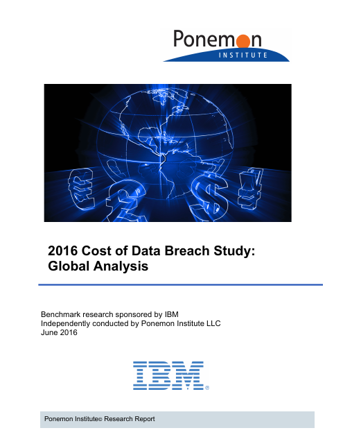 image from 2016 Cost of Data Breach Study: Global Analysis