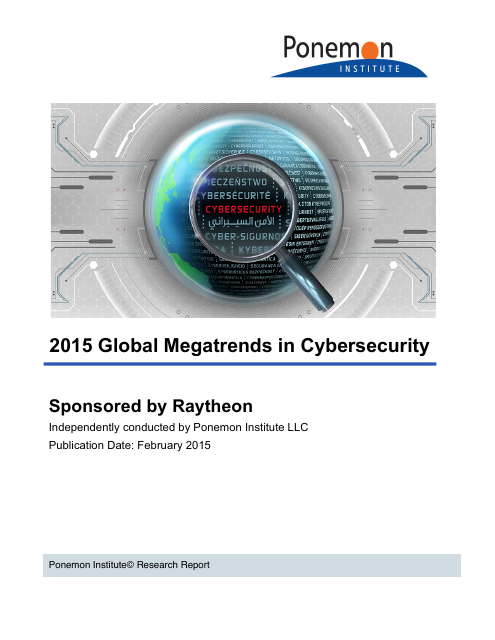 image from 2015 Global Megatrends in Cybersecurity