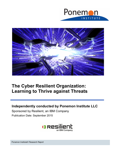 image from The Cyber Resilient Organization: Learning to Thrive against Threats