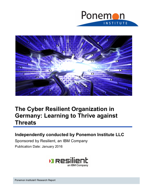 image from The Cyber Resilient Organization in Germany: Learning to Thrive against Threats