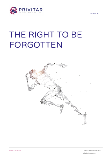 image from The Right To Be Forgotten