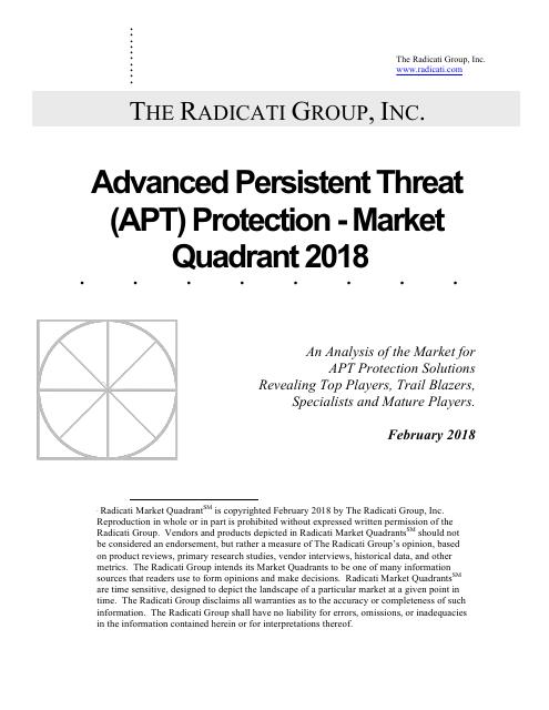 image from Advanced Precision Threat (APT) Protection: Market Quadrant 2018
