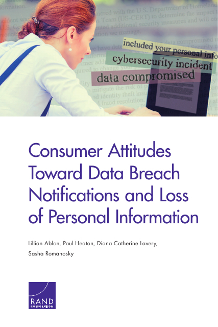 image from Consumer Attitudes Toward Data Breach Notifications and Loss of Personal Information