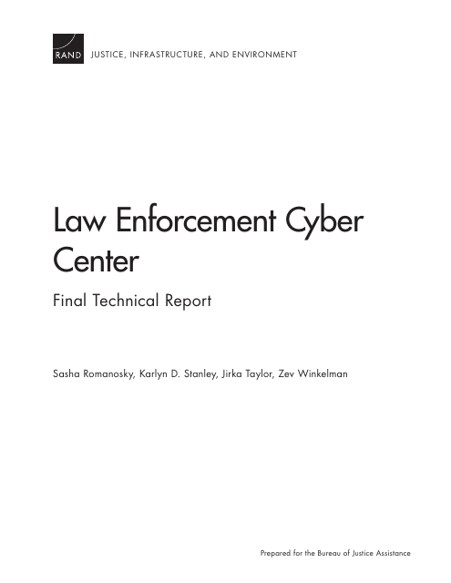 image from Law Enforcement Cyber Center: Final Technical Report