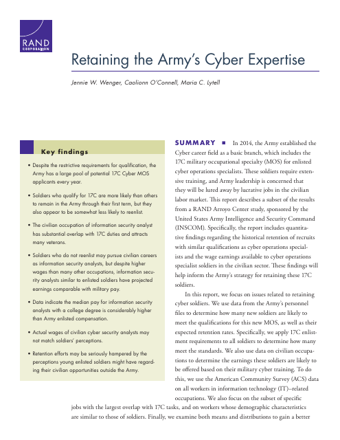 image from Retaining The Army's Cyber Expertise