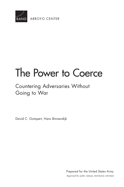 image from The Power To Coerce: Countering Adversaries Without Going To War