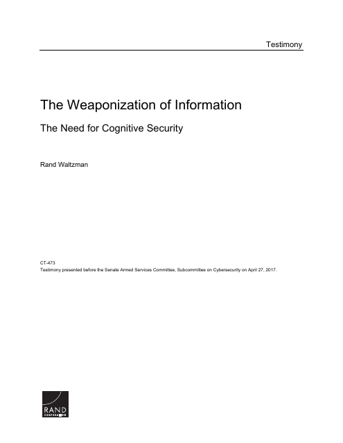 image from The Weaponization Of Information: The Need For Cognitive Security