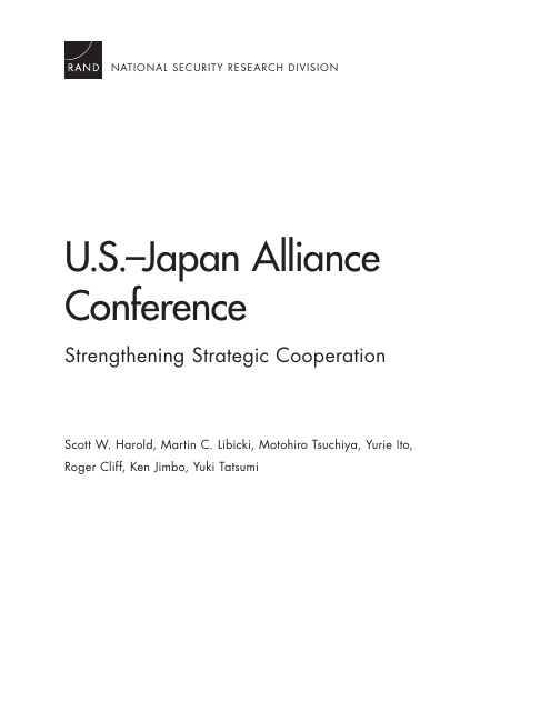 image from US-Japan Alliance Conference: Strengthening Strategic Cooperation