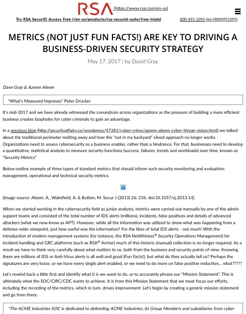 image from Metrics (Not Just Fun Facts!) Are Key To Driving a Business-Driven Security Strategy