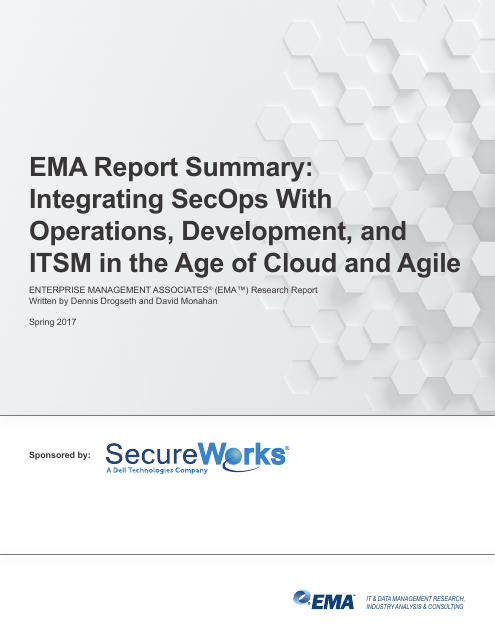 image from EMA Report Summary: Integrating SecOps With Operations, Development, and ITSM In The Age Of Cloud And Agile