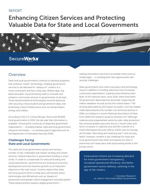 image from Enhancing Services And Protecting Data For State And Local Governments