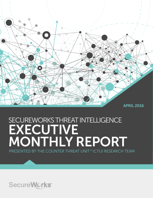 image from SecureWorks Threat Intelligence Executive Monthly Report April 2016