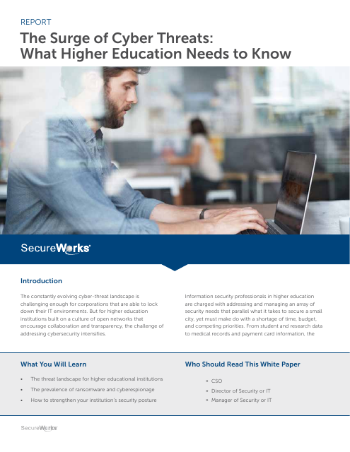 image from The Surge Of Cyber Threats: What Higher Education Needs To Know