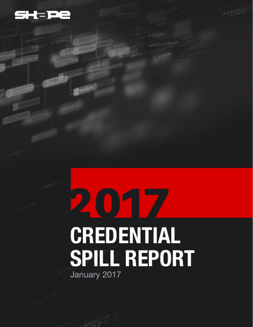 image from 2017 Credential Spill Report