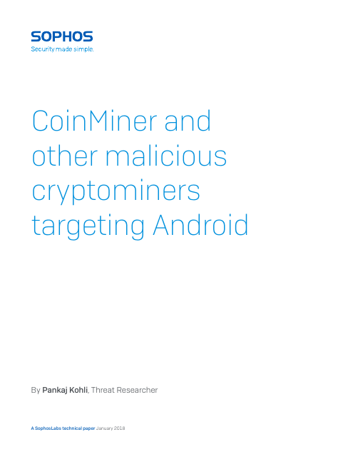image from CoinMiner And Other Malicious Cryptominers Targeting Android