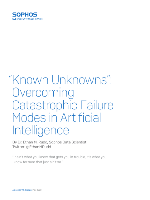 "image from ""Known Unkowns"": Overcoming Catastrophic Failure Modes In Artificial Intelligence"