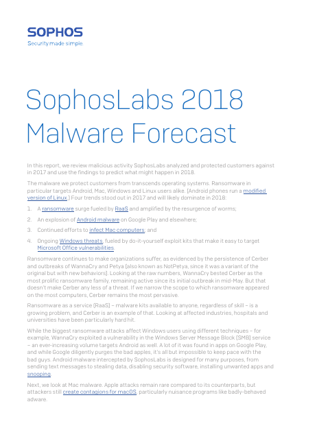 image from 2018 Malware Forecast