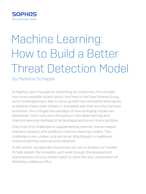 image from Machine Learning: How To Build A Better Threat Detection Model