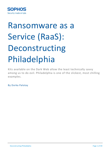 image from Ransomware As A Service (RaaS): Deconstructing Philadelphia