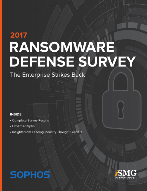 image from 2017 Ransomware Defense Survey