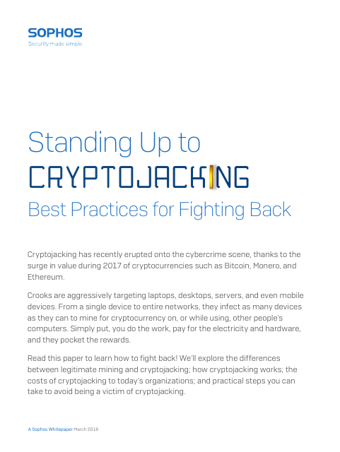 image from Standing Up To Cryptojacking: Best Practices For Fighting Back