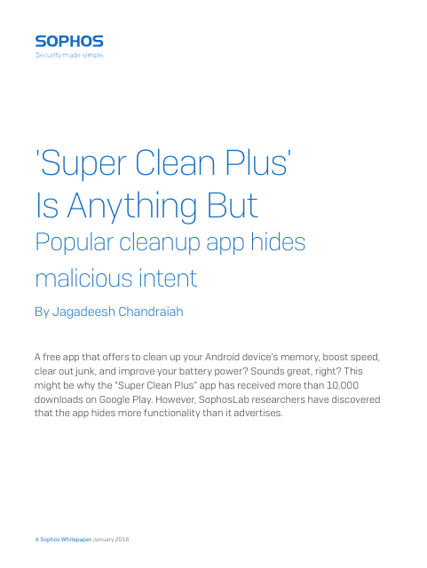"image from ""Super Clean Plus"" Is Anything But: Popular Cleanup App Hides Malicious Intent"