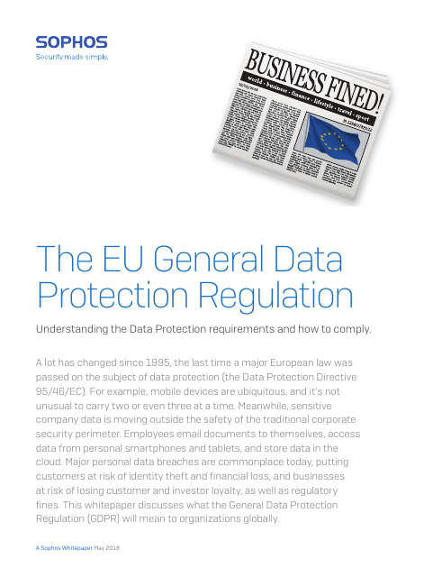 image from The EU General Data Protection Regulation