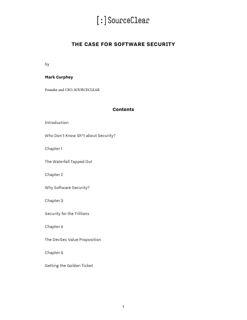 image from The Case For Software Security