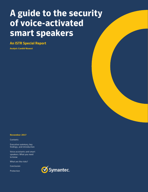 image from A Guide To The Security Of Voice-Activated Smart Speakers: An ISTR Special Report