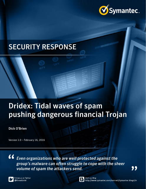 image from Security Response: Dridex Tidal Waves Of Spam Pushing Dangerous Financial Trojan