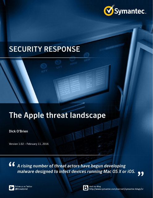 image from Security Response: The Apple Threat Landscape