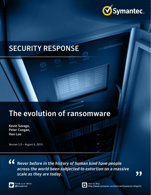 image from Security Response: The Evolution of Ransomware