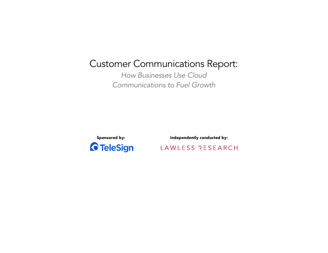 image from Customer Communications Report