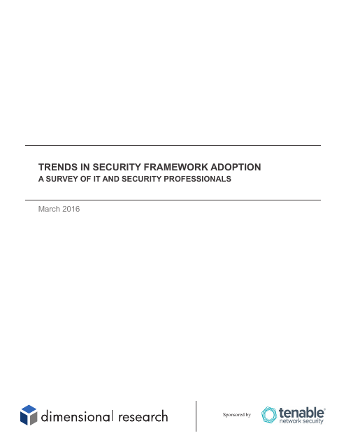 image from Trends In Security Framework Adoption