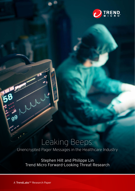 image from Leaking Beeps: Unencrypted Pager Messages In The Healthcare Industry