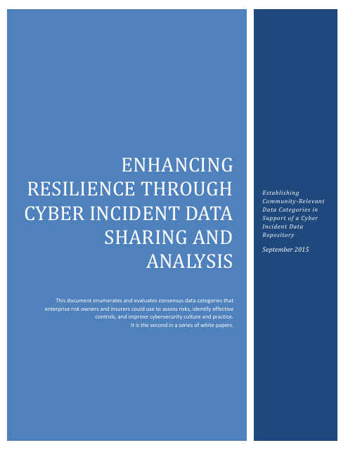 image from Enhancing Resilience through Cyber Incident Data Sharing and Analysis