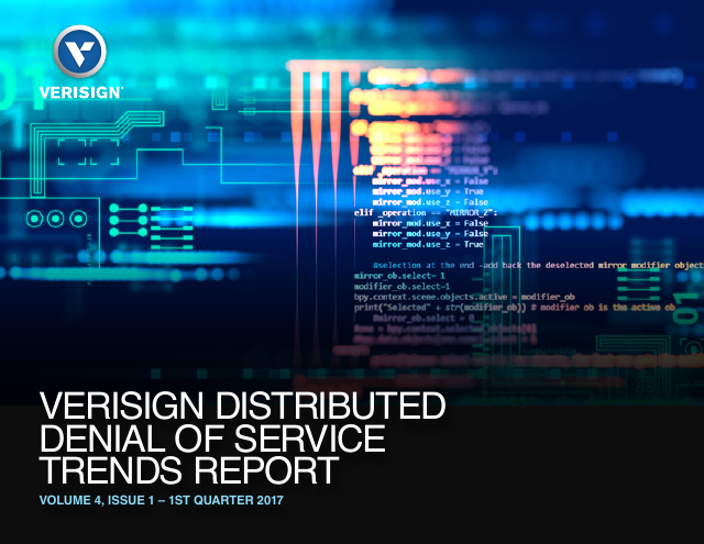 image from Verisign DDoS Trends Report Q1 2017