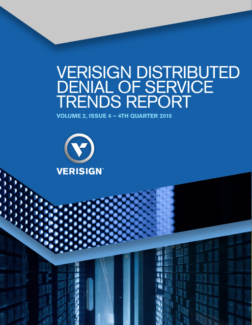 image from Verisign Distributed Denial of Service Trends Report