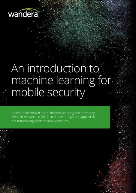 image from An Introduction To Machine Learning For Mobile Security