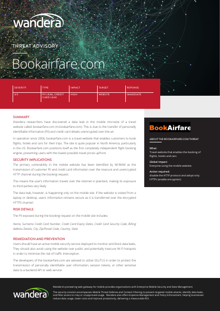 image from Threat Advisory: Bookairfare.com