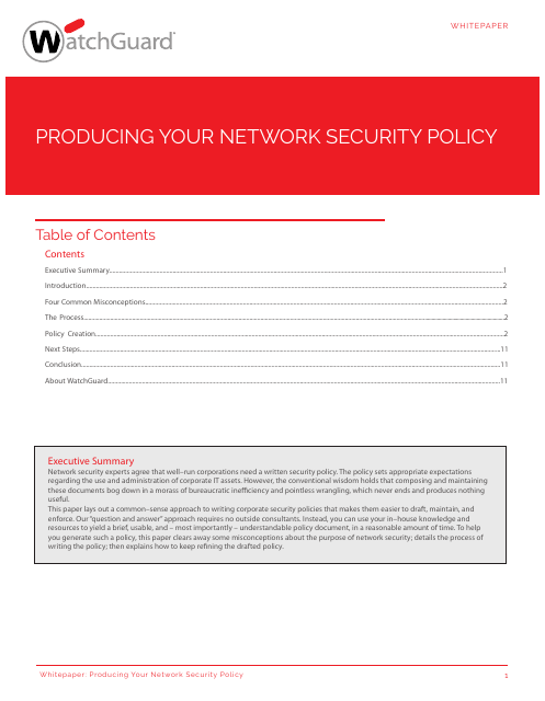 image from Producing Your Network Security Policy