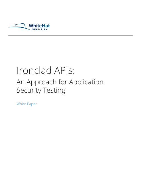 image from Ironclad API's:An Approach For Application Security Testing