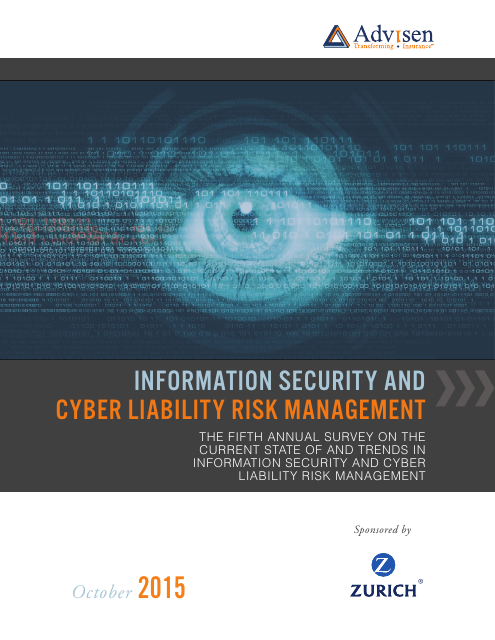 image from Information Security and Cyber Liability Risk Management Report 2015