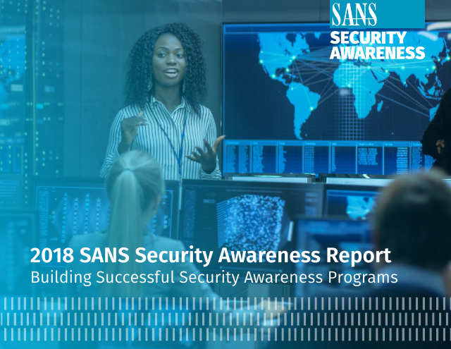 image from 2018 SANS Security Awareness Report