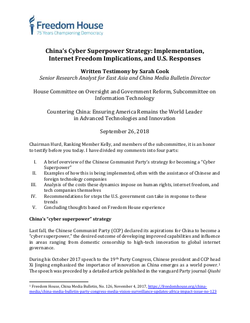 image from China's Cyber Superpower Strategy: Implementation, Internet Freedom Implications, and U.S. Responses