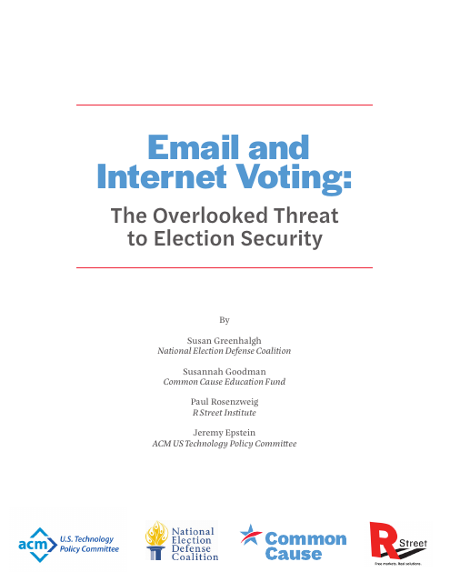 image from Email and Internet Voting: The Overlooked Threat To Election Security