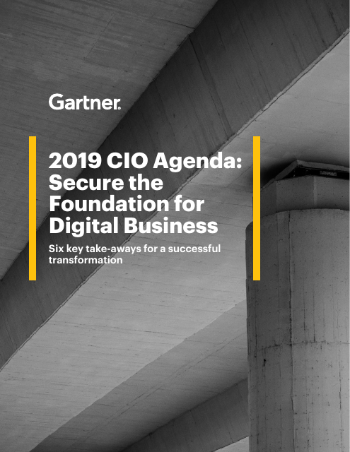 image from 2019 CIO Agenda: Secure The Foundation For Digital Business