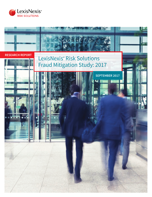 image from LexisNexis Risk Solutions Fraud Mitigation Study:2017